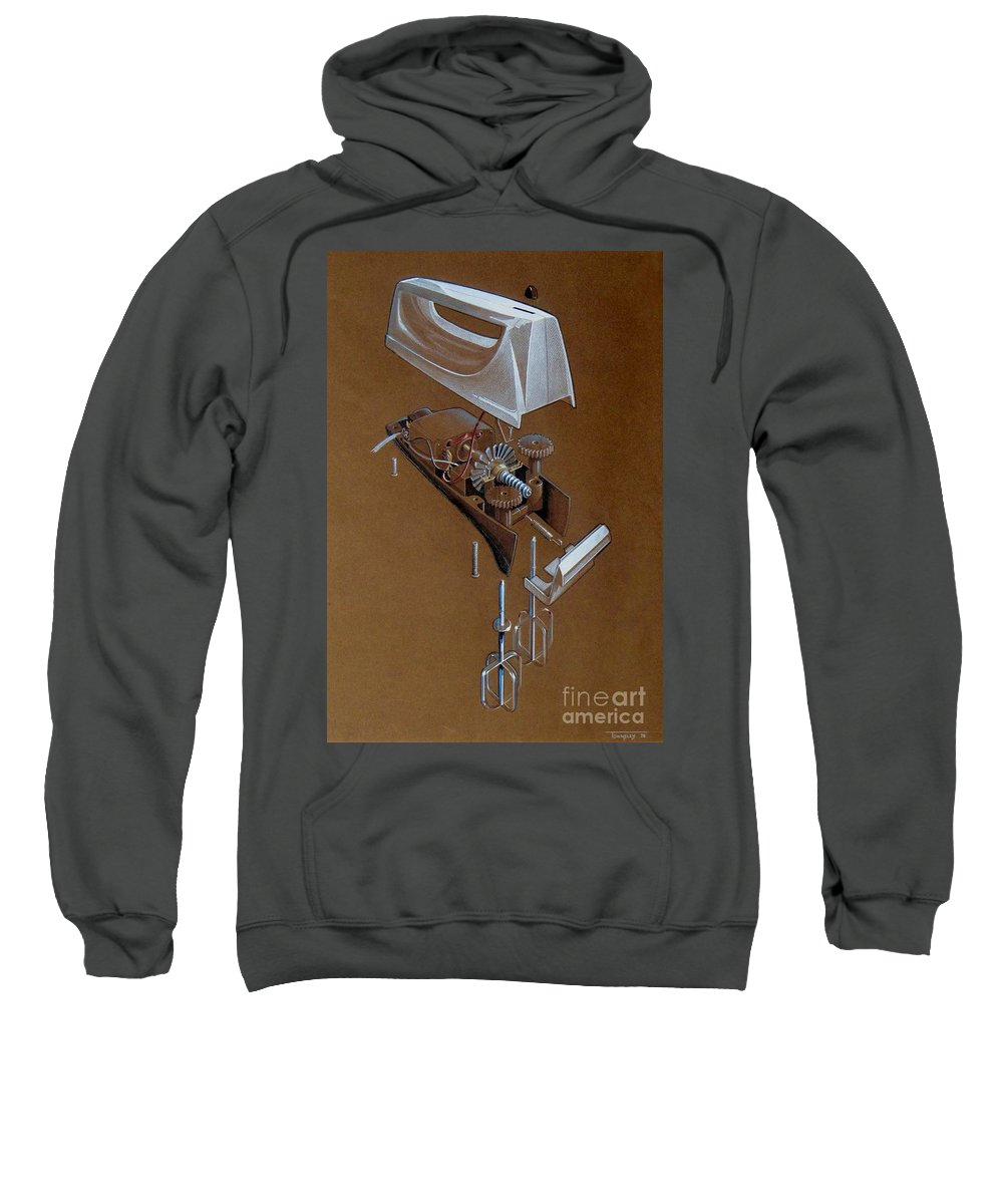 Painting Sweatshirt featuring the mixed media Hand Mixer by Frank Townsley