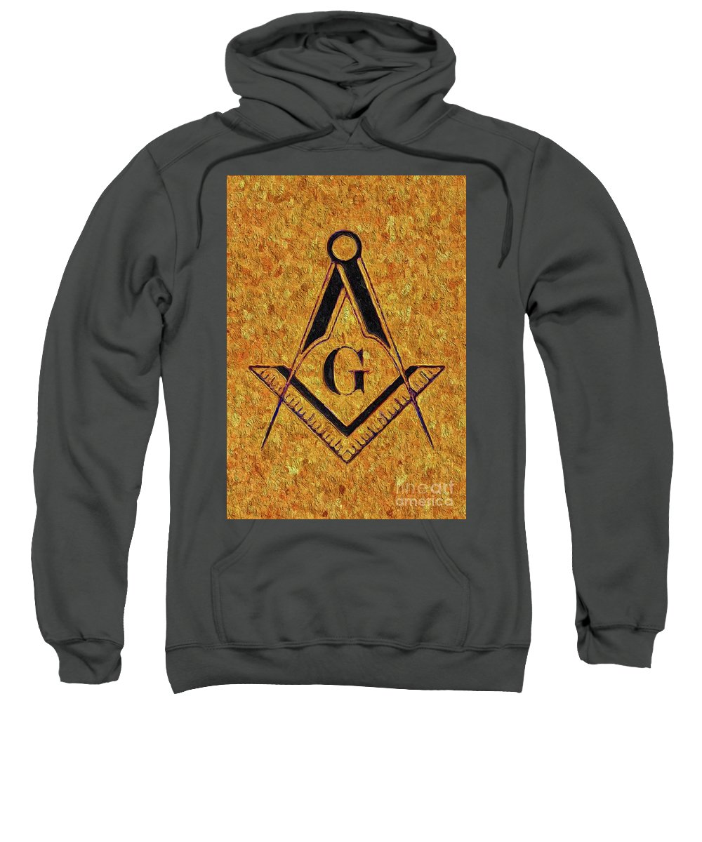 Symbol Sweatshirt featuring the painting Masonic Symbolism by Esoterica Art Agency