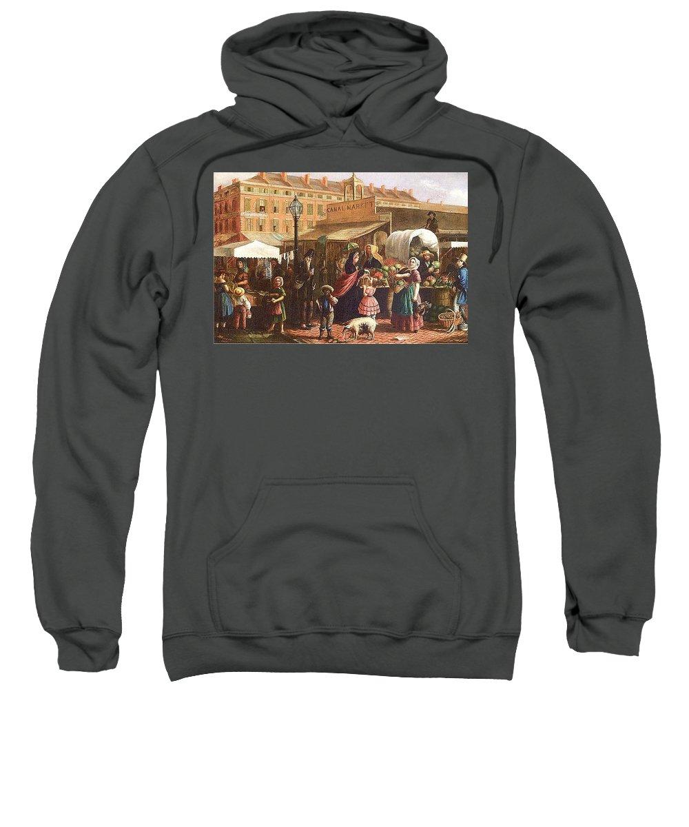 Temple Sweatshirt featuring the digital art mosler1 Henry Mosler by Eloisa Mannion