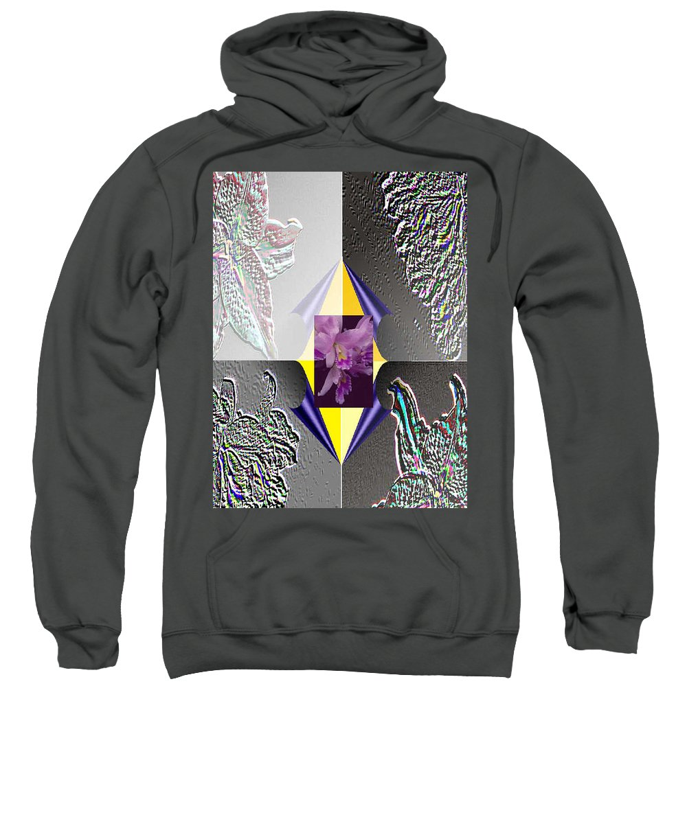 Florals Sweatshirt featuring the digital art 4 Points Of Interest by Brenda L Spencer