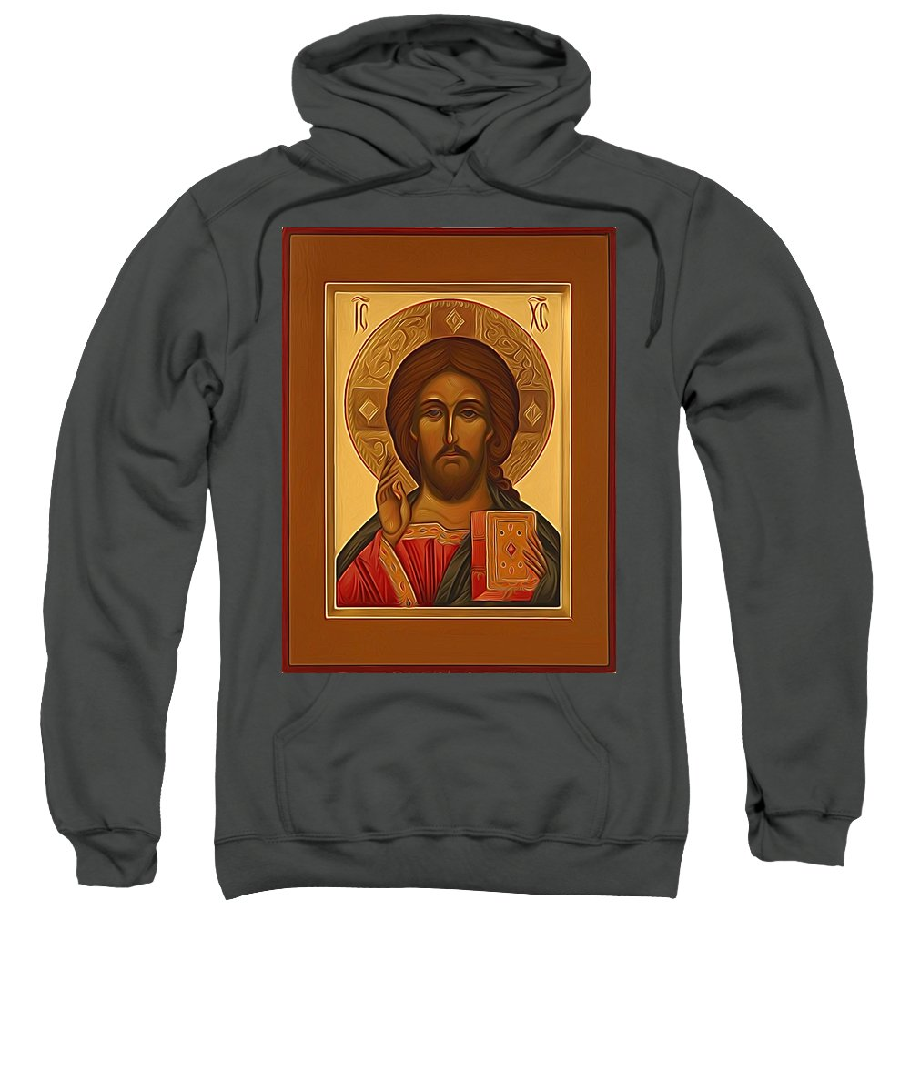 Jesus Sweatshirt featuring the digital art Jesus Christ Religious Art by Carol Jackson