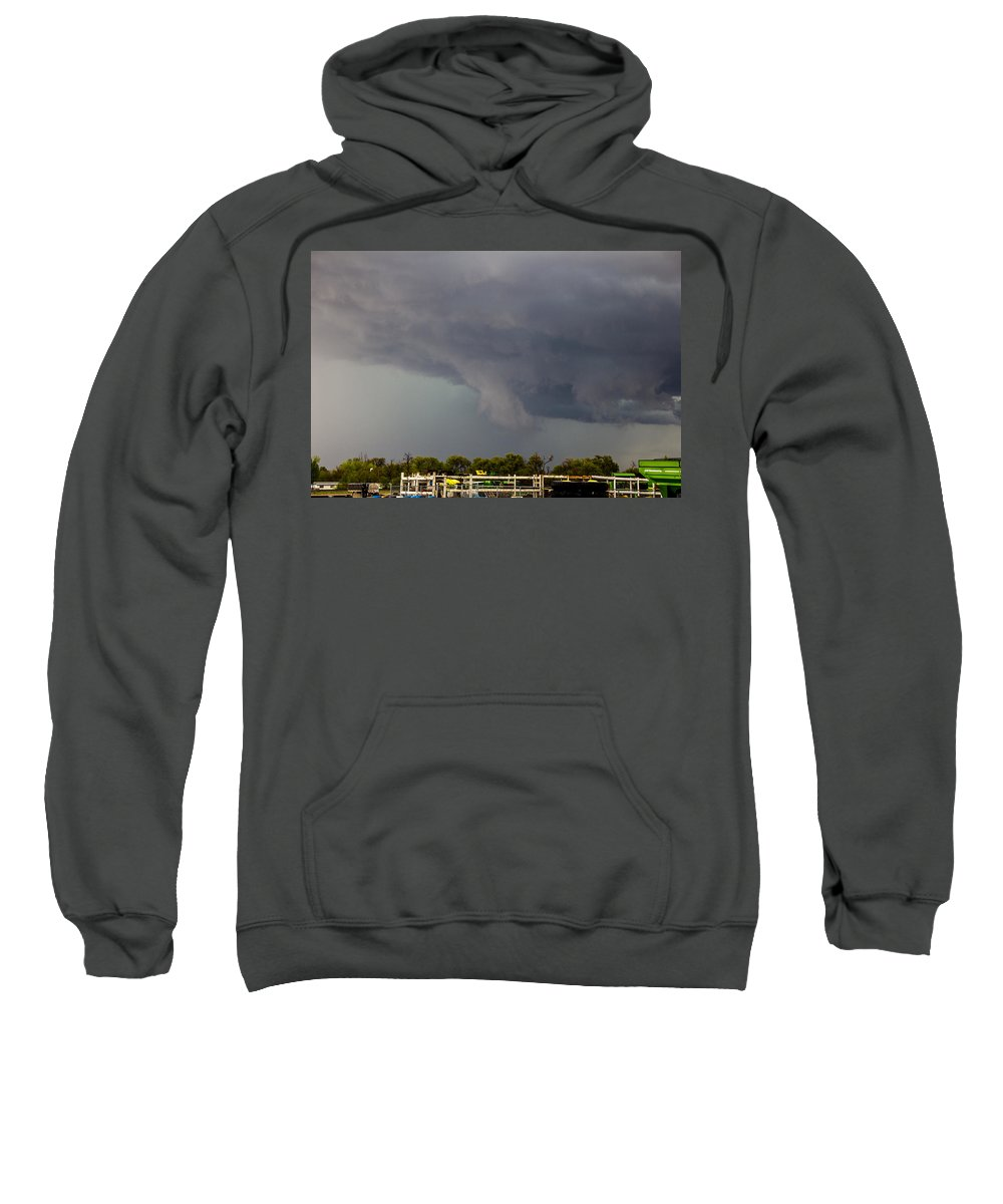 Stormscape Sweatshirt featuring the photograph 7th Storm Chase 2015 by NebraskaSC