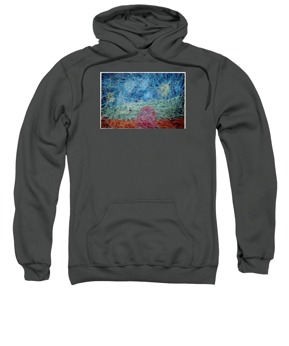 Sweatshirt featuring the painting 48 by Terry Wiklund