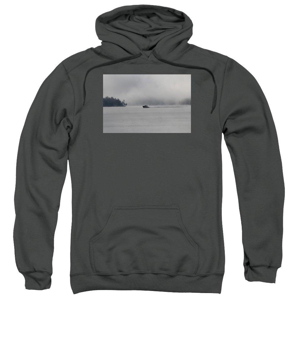 Fog Sweatshirt featuring the photograph Wolfeboro Nh by Donn Ingemie
