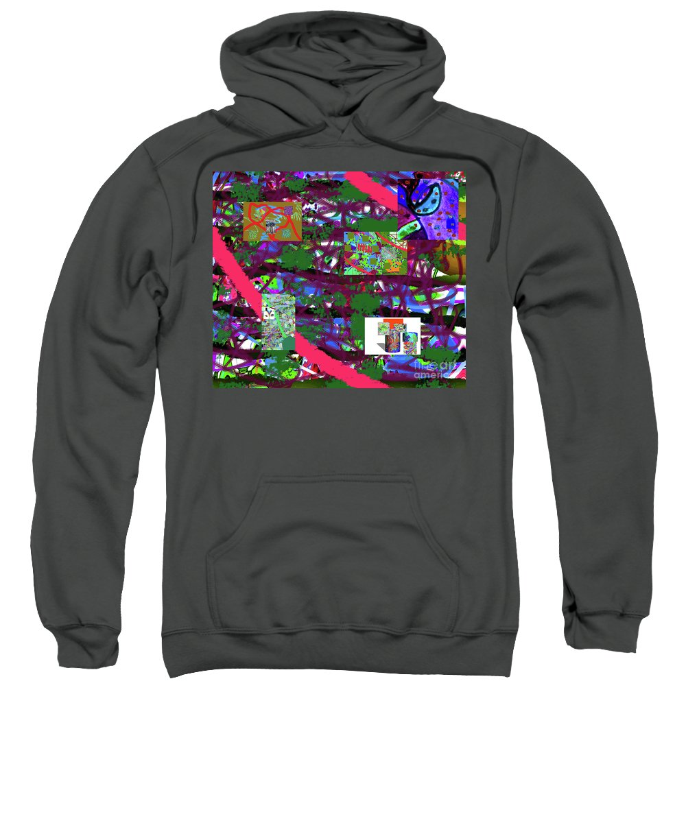 Walter Paul Bebirian Sweatshirt featuring the digital art 5-12-2015cabcdefghijklmn by Walter Paul Bebirian