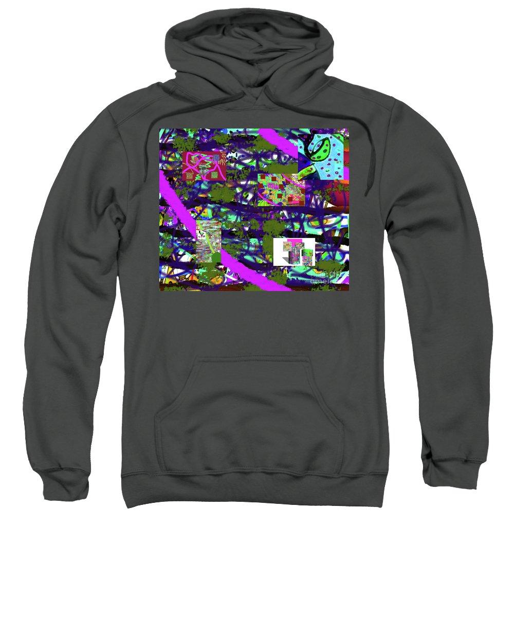 Walter Paul Bebirian Sweatshirt featuring the digital art 5-12-2015cabcdefghijklmnopqrtu by Walter Paul Bebirian