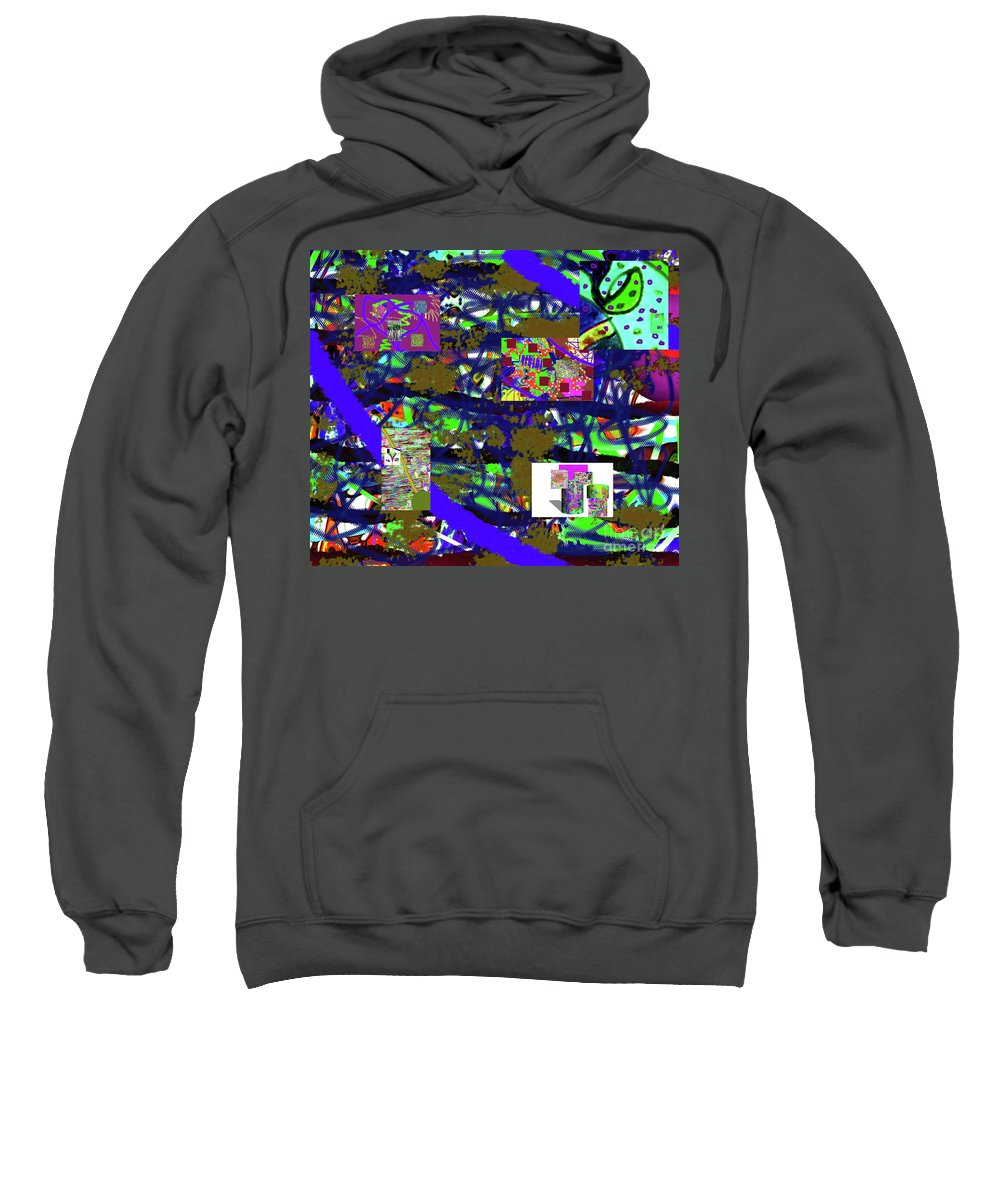 Walter Paul Bebirian Sweatshirt featuring the digital art 5-12-2015cabcdefghijklmnopqrtuvwx by Walter Paul Bebirian