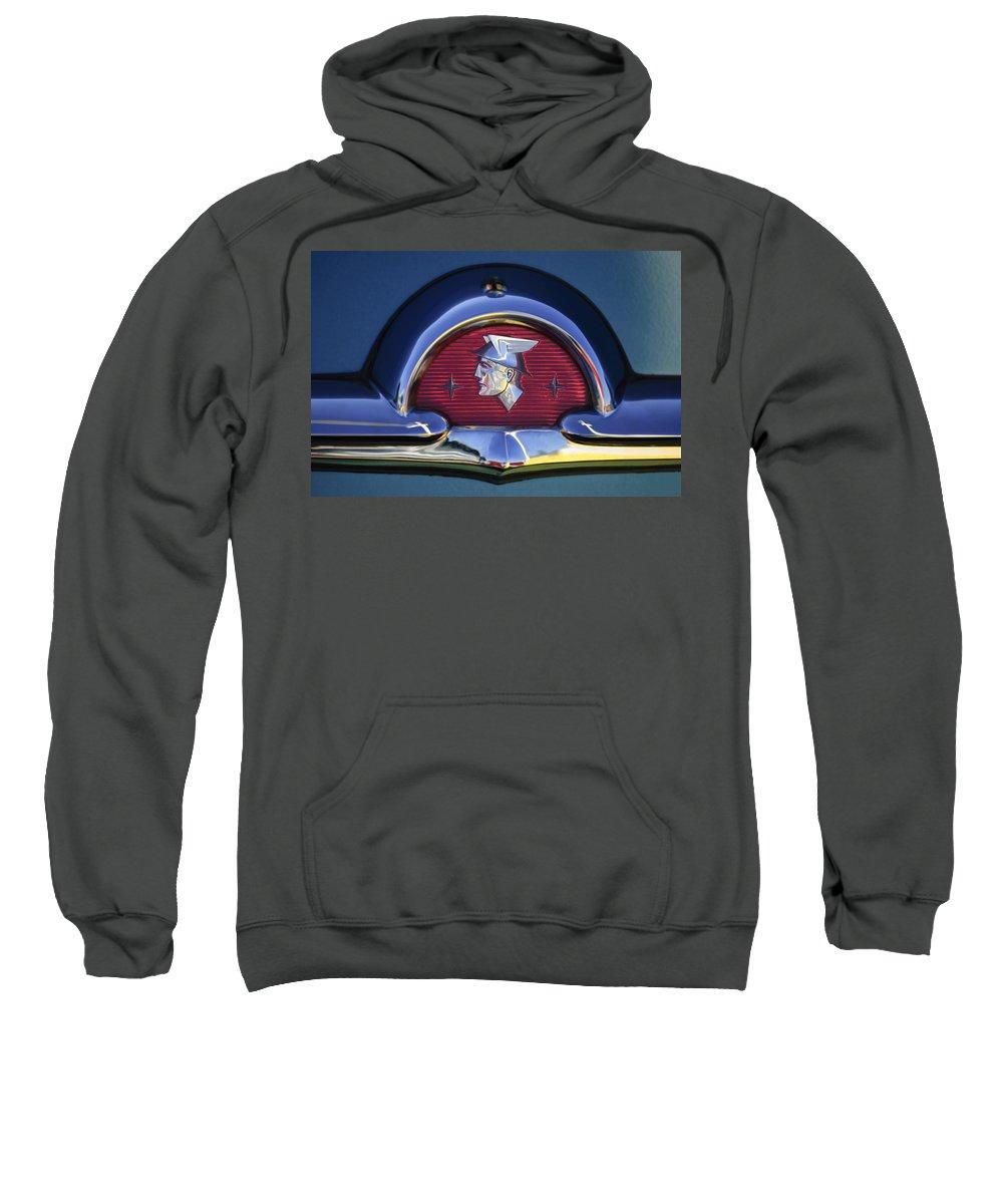 1953 Mercury Monterey Sweatshirt featuring the photograph 1953 Mercury Monterey Emblem by Jill Reger