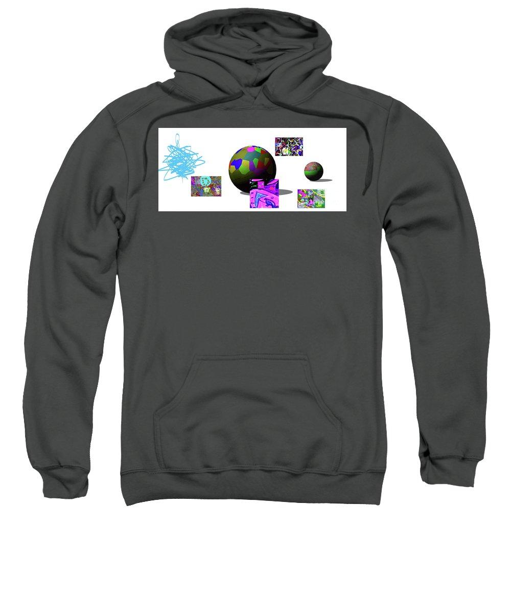 Walter Paul Bebirian Sweatshirt featuring the digital art 5-30-02015abcdefgh by Walter Paul Bebirian