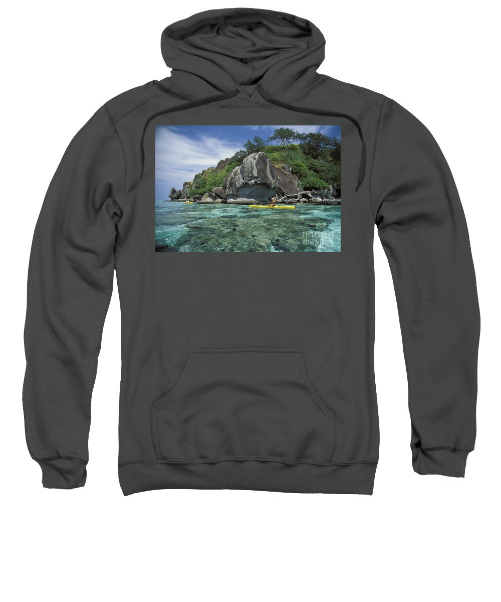 Afternoon Sweatshirt featuring the photograph Fiji, Kadavu Island by Ron Dahlquist - Printscapes