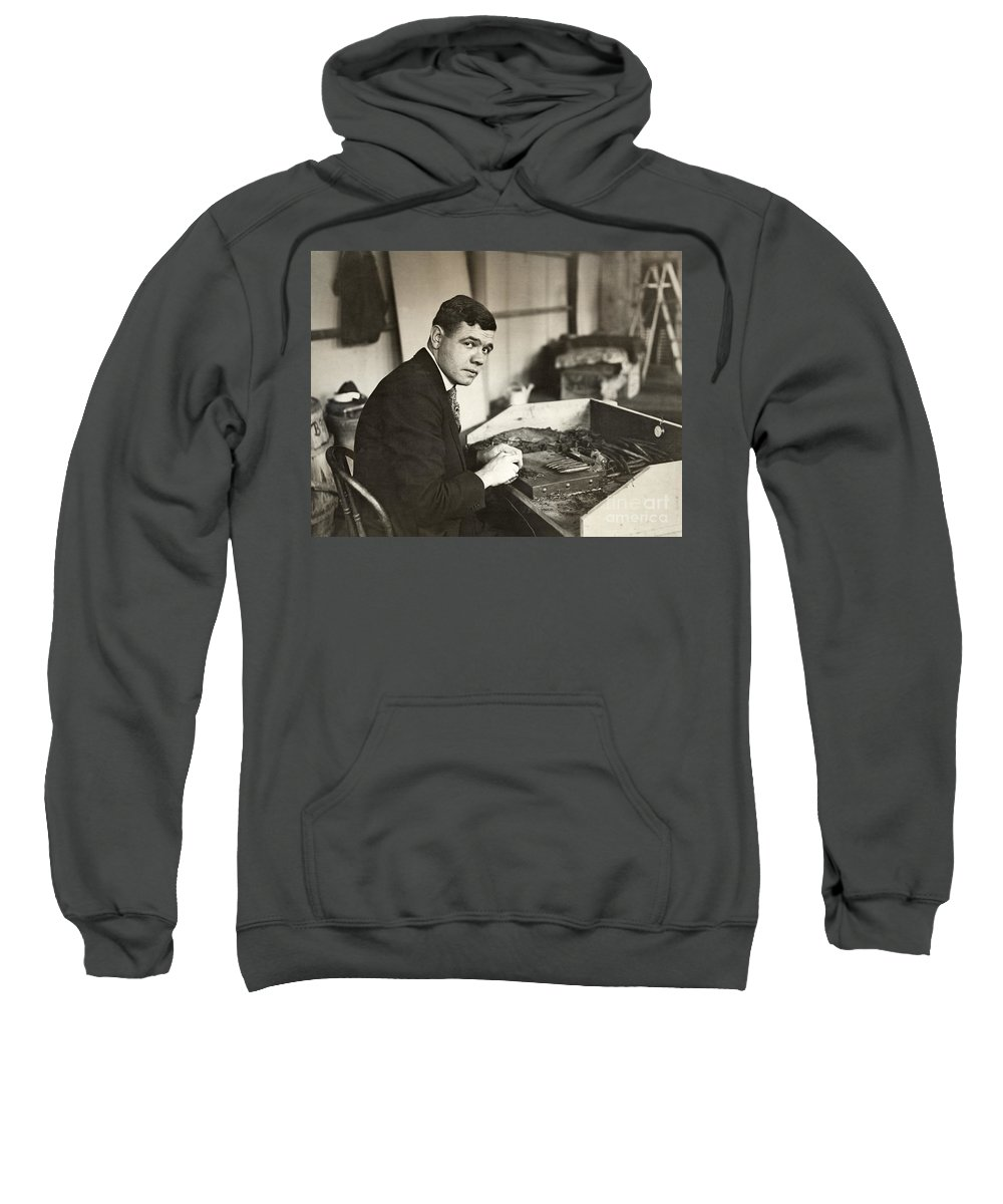 1919 Sweatshirt featuring the photograph George H. Ruth (1895-1948) by Granger
