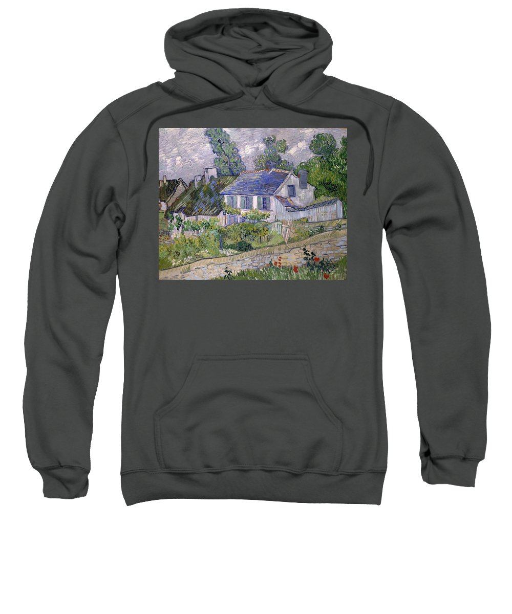 Houses At Auvers Sweatshirt featuring the painting Houses At Auvers by Vincent van Gogh