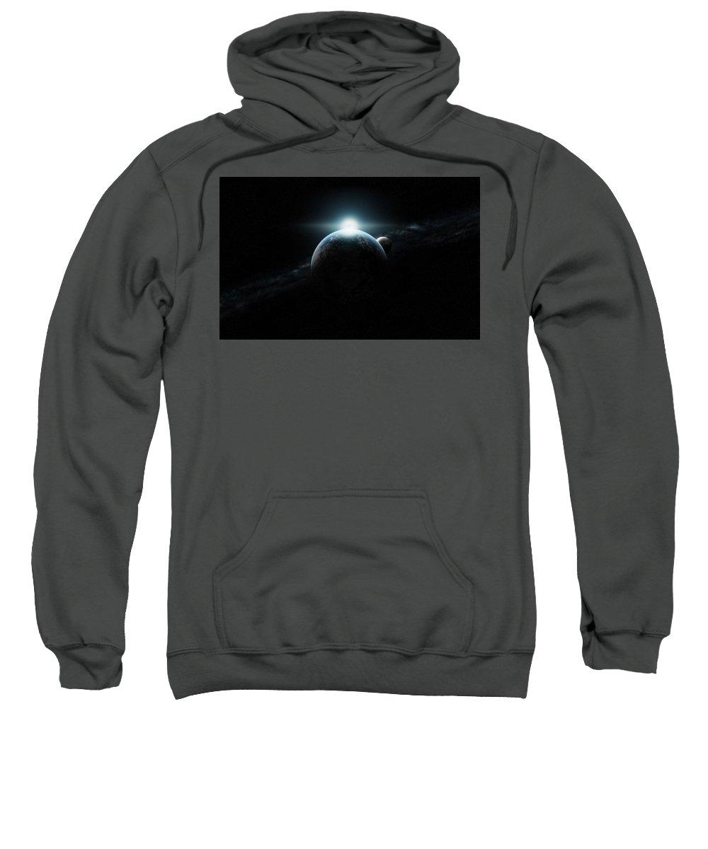 Planets Sweatshirt featuring the digital art Planets by Bert Mailer