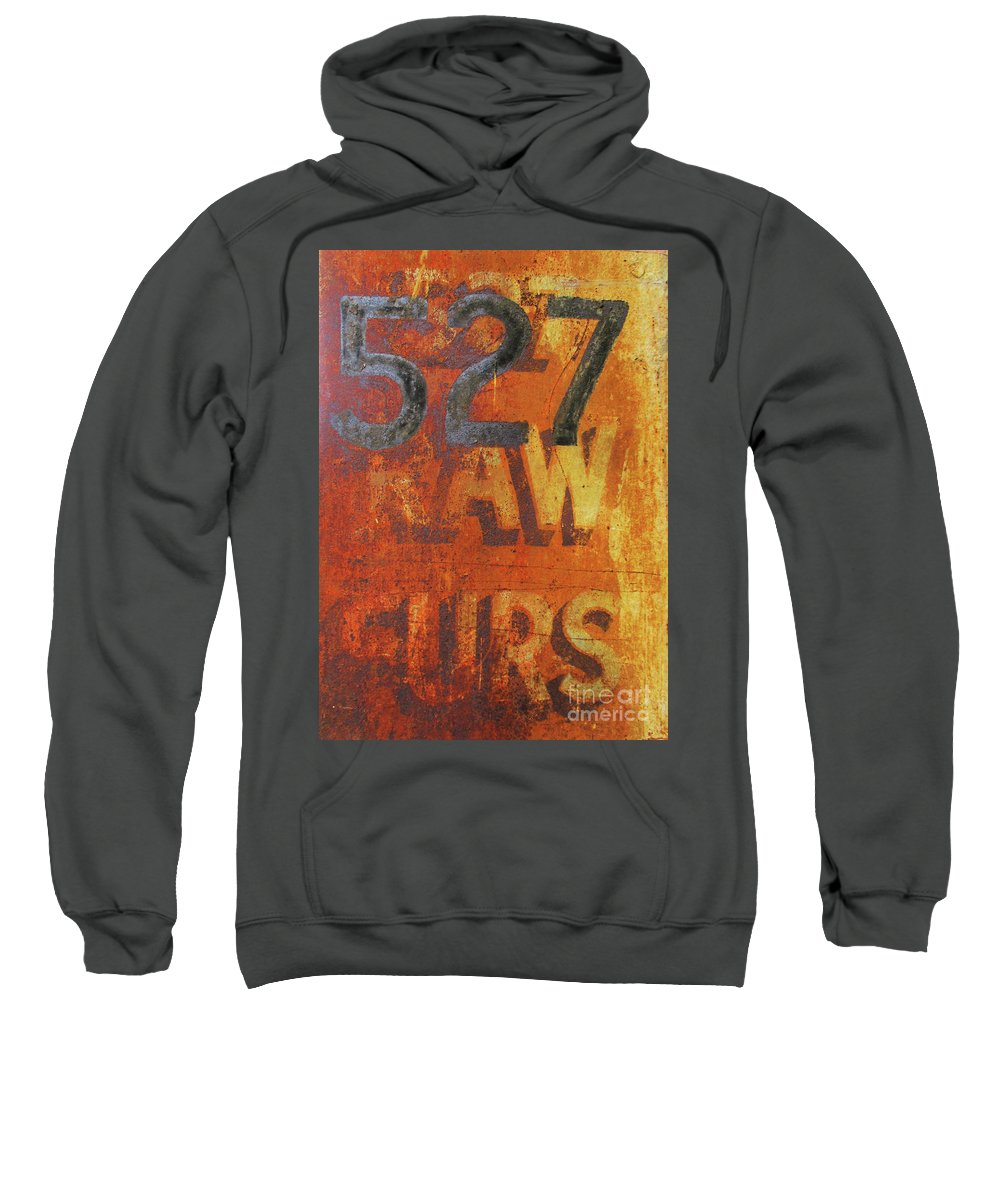 527 Raw Furs Sweatshirt featuring the photograph 527 Raw Furs by Randall Weidner