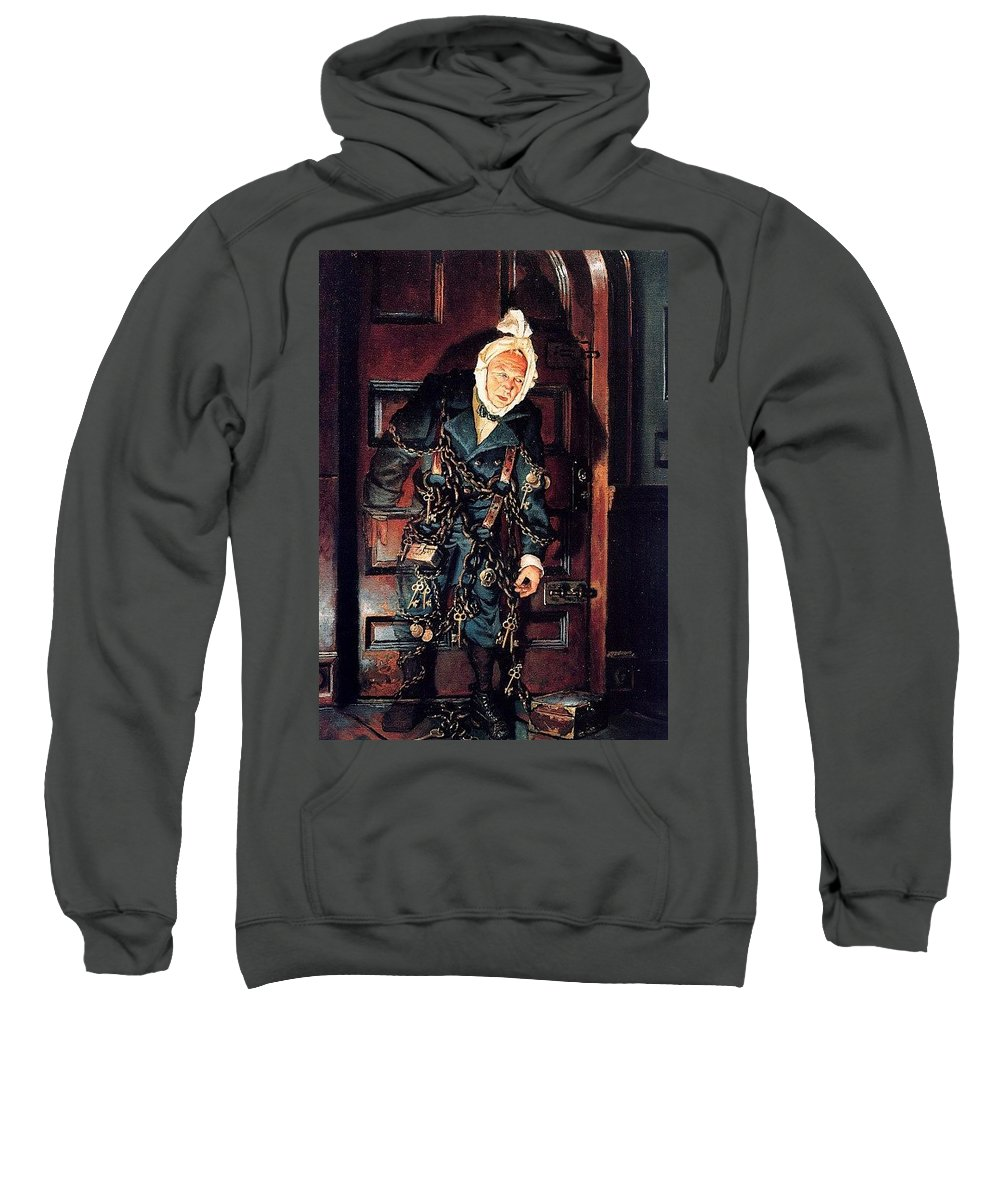 Throne Sweatshirt featuring the digital art A Christmas Carol Dean Morrissey by Eloisa Mannion