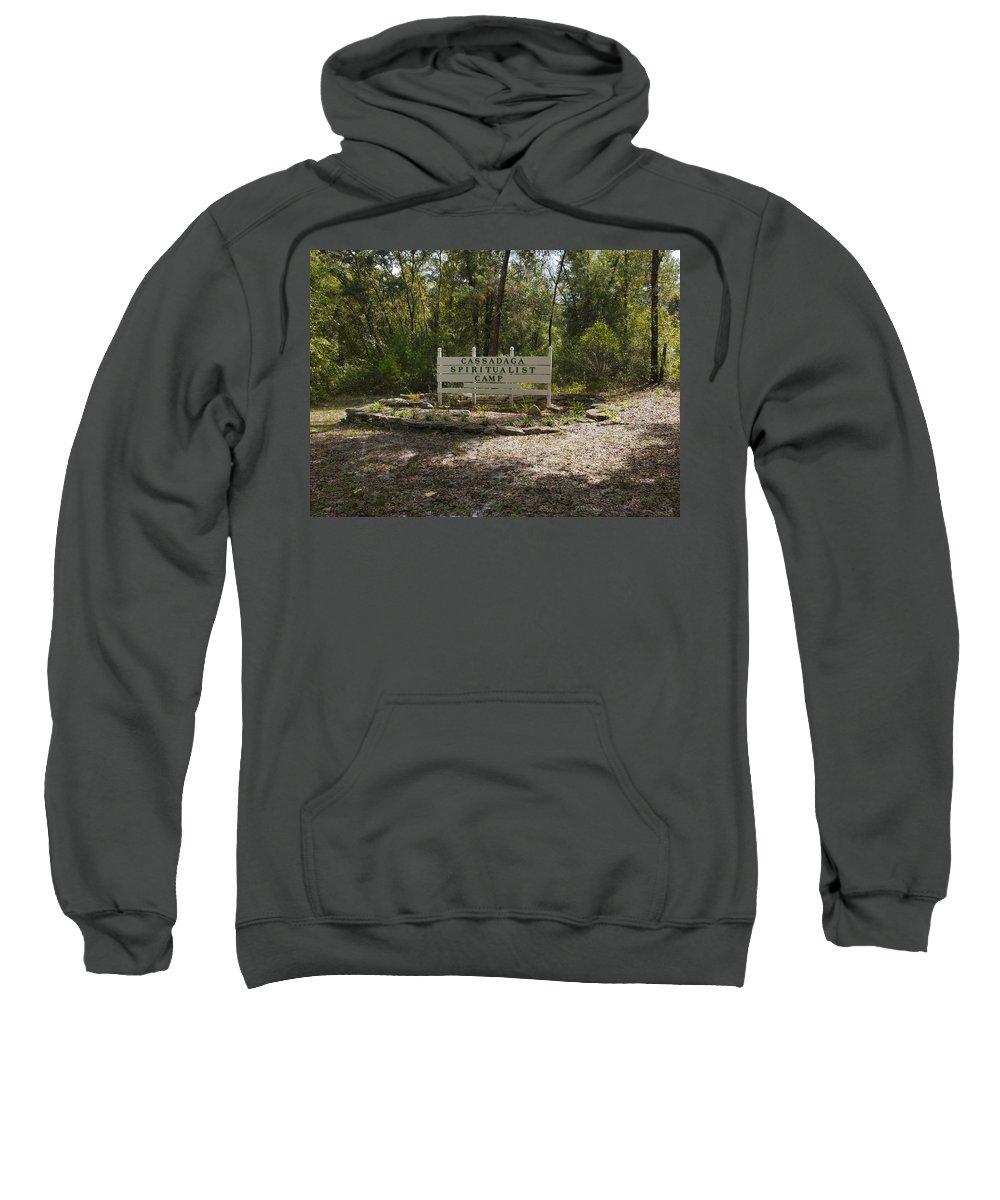 Cassadaga Sweatshirt featuring the photograph Cassadaga Spiritualist Camp In Florida by Allan Hughes