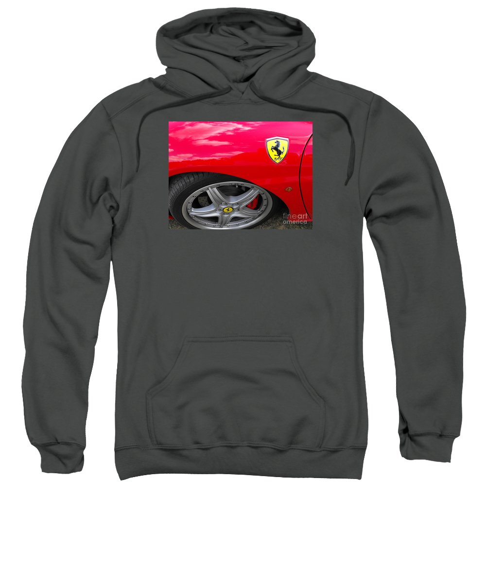 Ferrari Sweatshirt featuring the photograph Ferrari by Neil Zimmerman