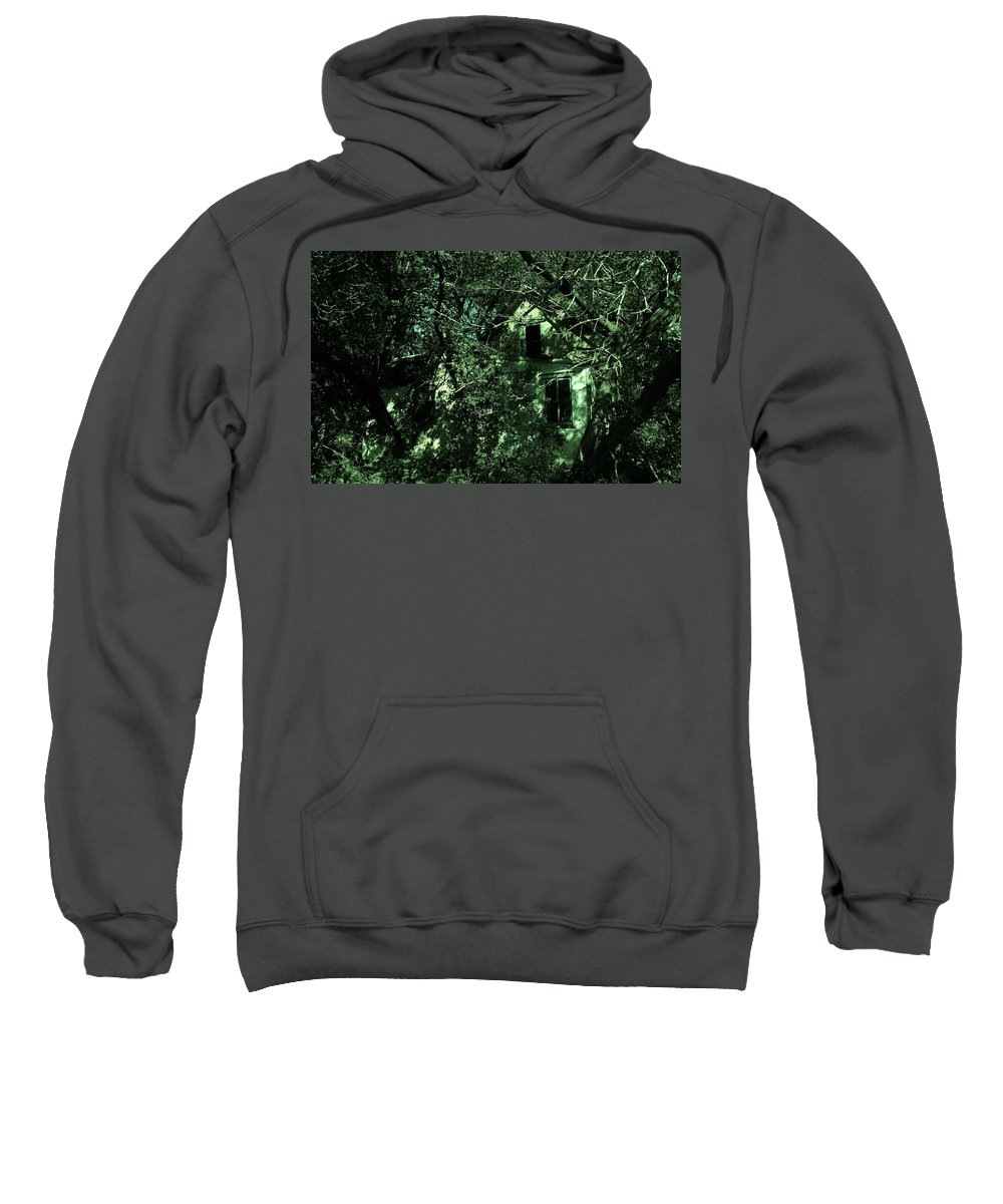 Farm Sweatshirt featuring the photograph One Country Farmhouse by Curtis Tilleraas