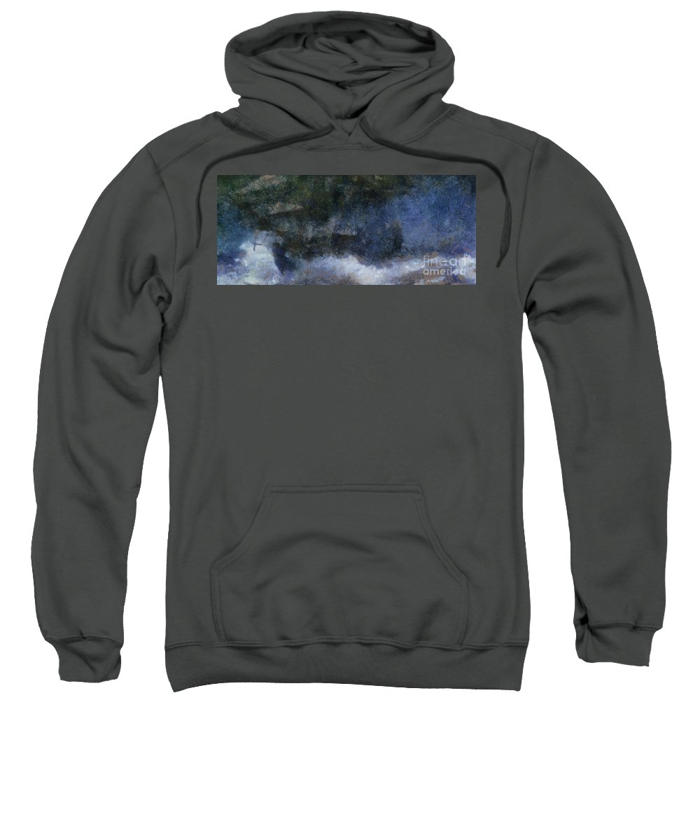 Ships Sweatshirt featuring the digital art Ships Ahoy by Sobano S