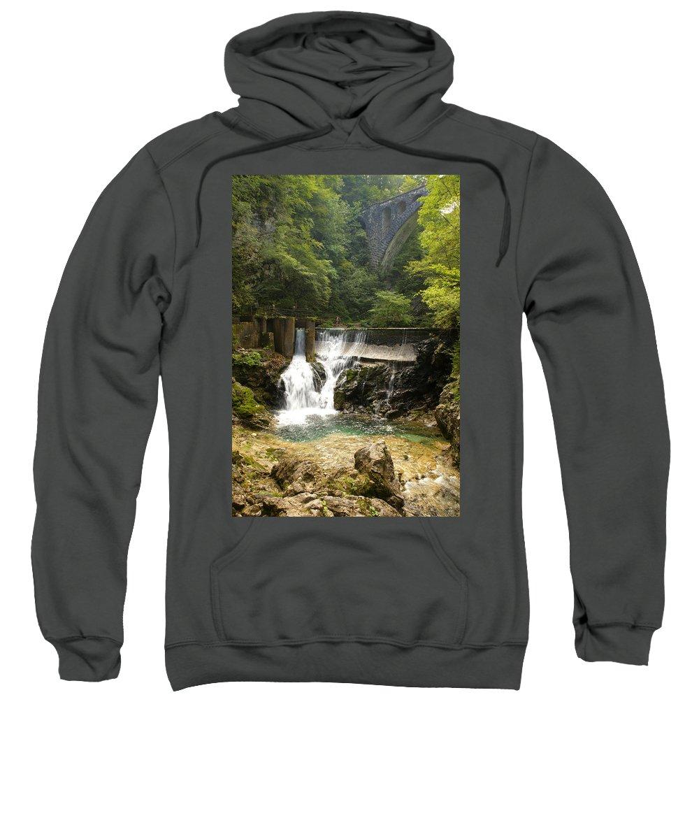 Vintgar Sweatshirt featuring the photograph The Vintgar Gorge by Ian Middleton