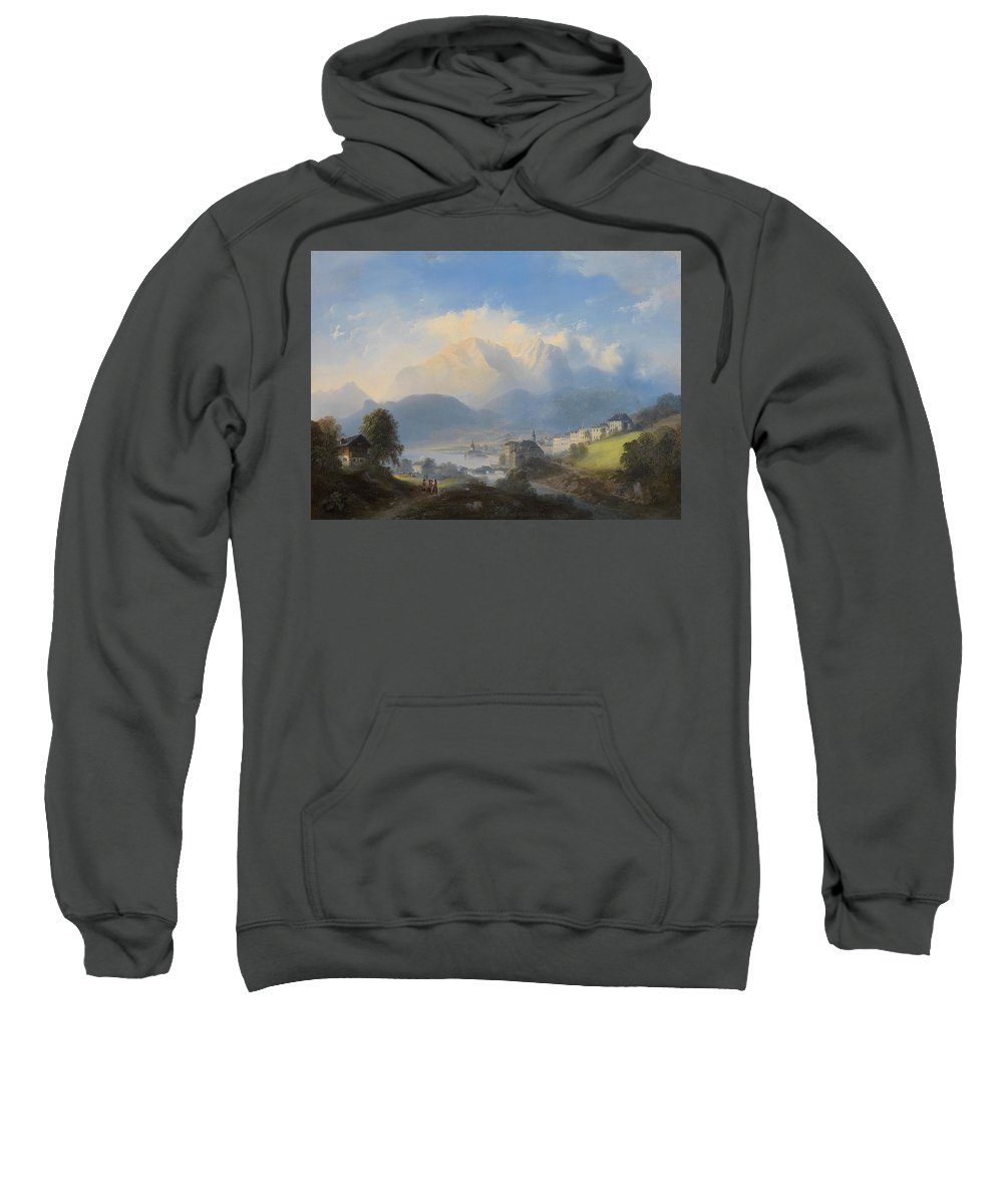 Manner Of Canaletto (venetian Sweatshirt featuring the painting Landscape by MotionAge Designs