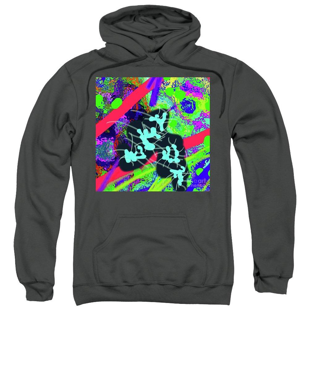 Walter Paul Bebirian Sweatshirt featuring the digital art 7-30-2015dabc by Walter Paul Bebirian