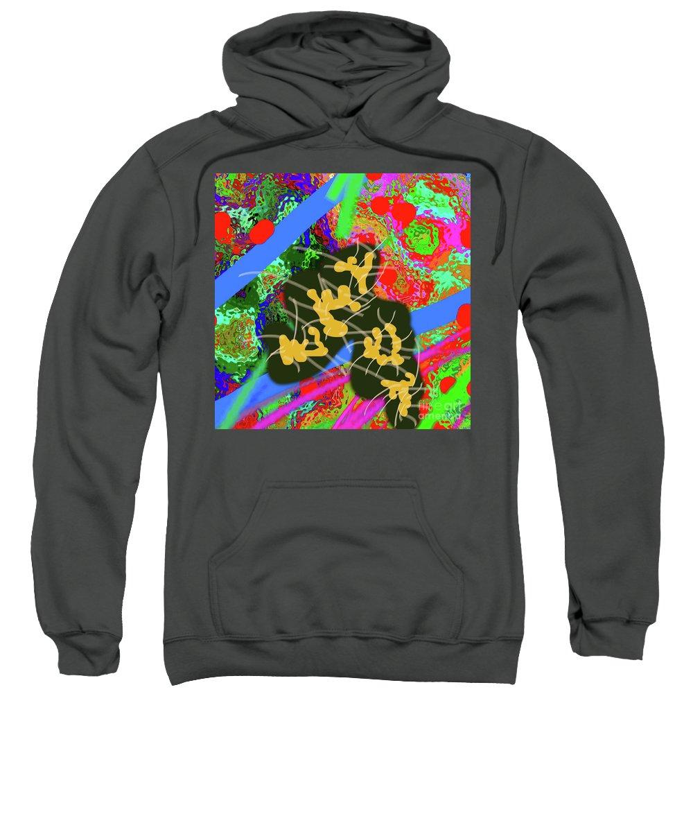 Walter Paul Bebirian Sweatshirt featuring the digital art 7-30-2015dabcdefghijklmnop by Walter Paul Bebirian