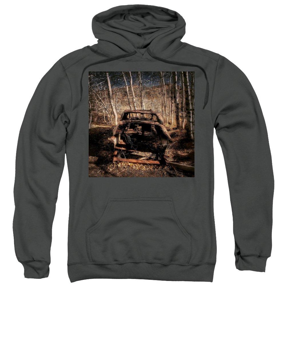 Transport Sweatshirt featuring the photograph Derelict Transport by Florian Raymann