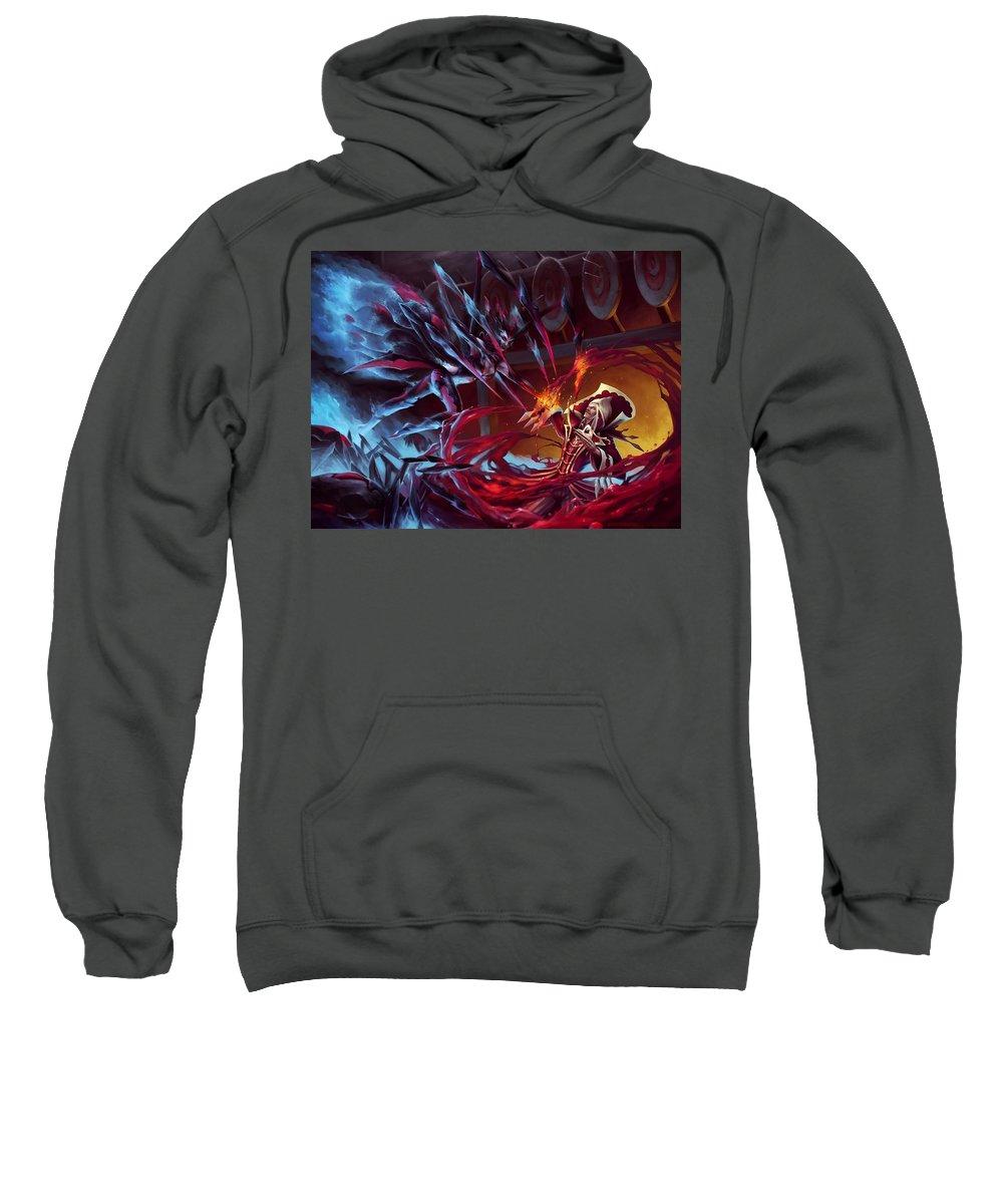 League Of Legends Sweatshirt featuring the digital art League Of Legends by Bert Mailer