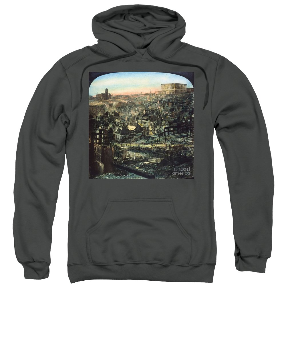 1906 Sweatshirt featuring the photograph San Francisco Earthquake by Granger