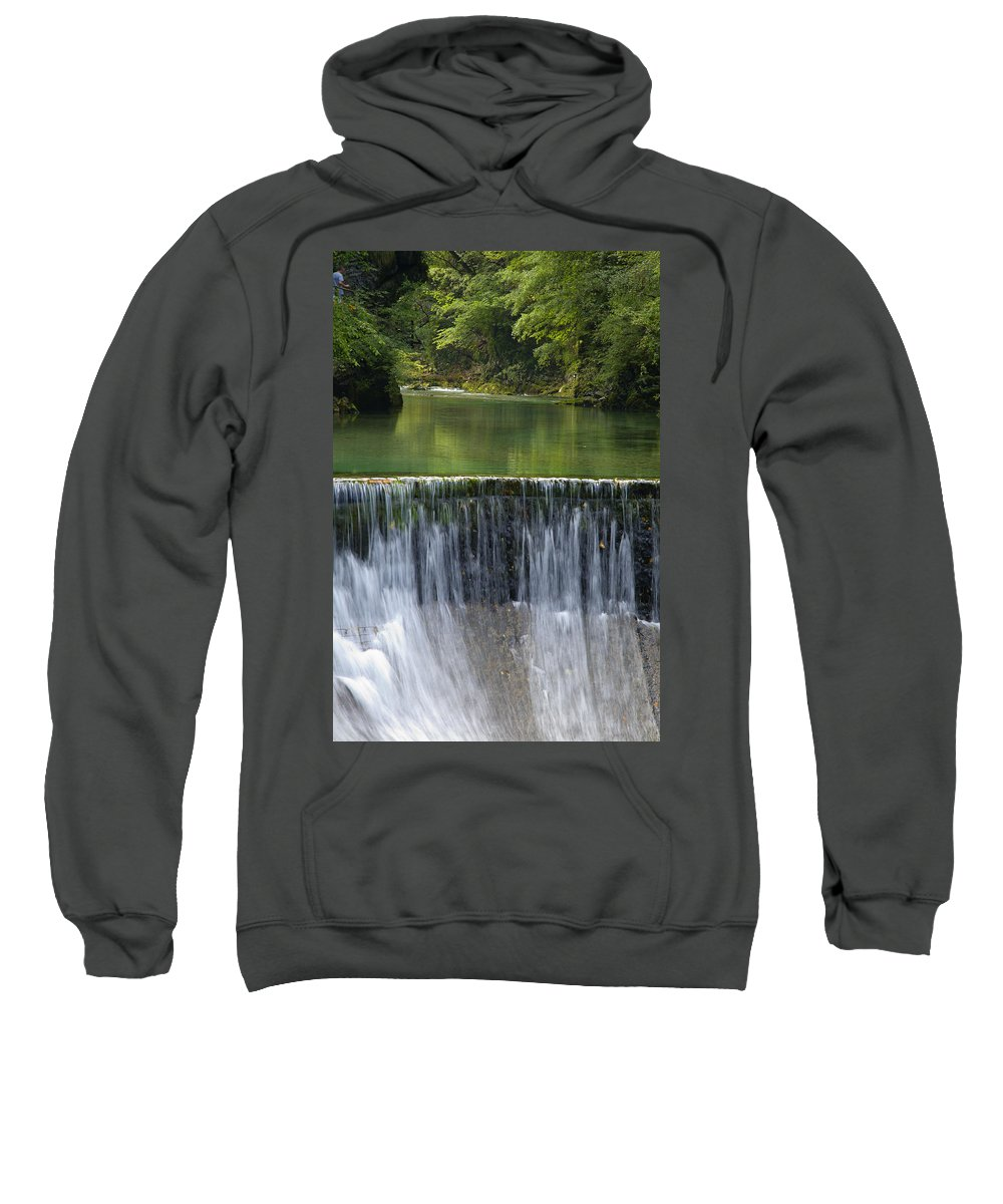 Vintgar Sweatshirt featuring the photograph The Vintgar Gorge by Ian Middleton