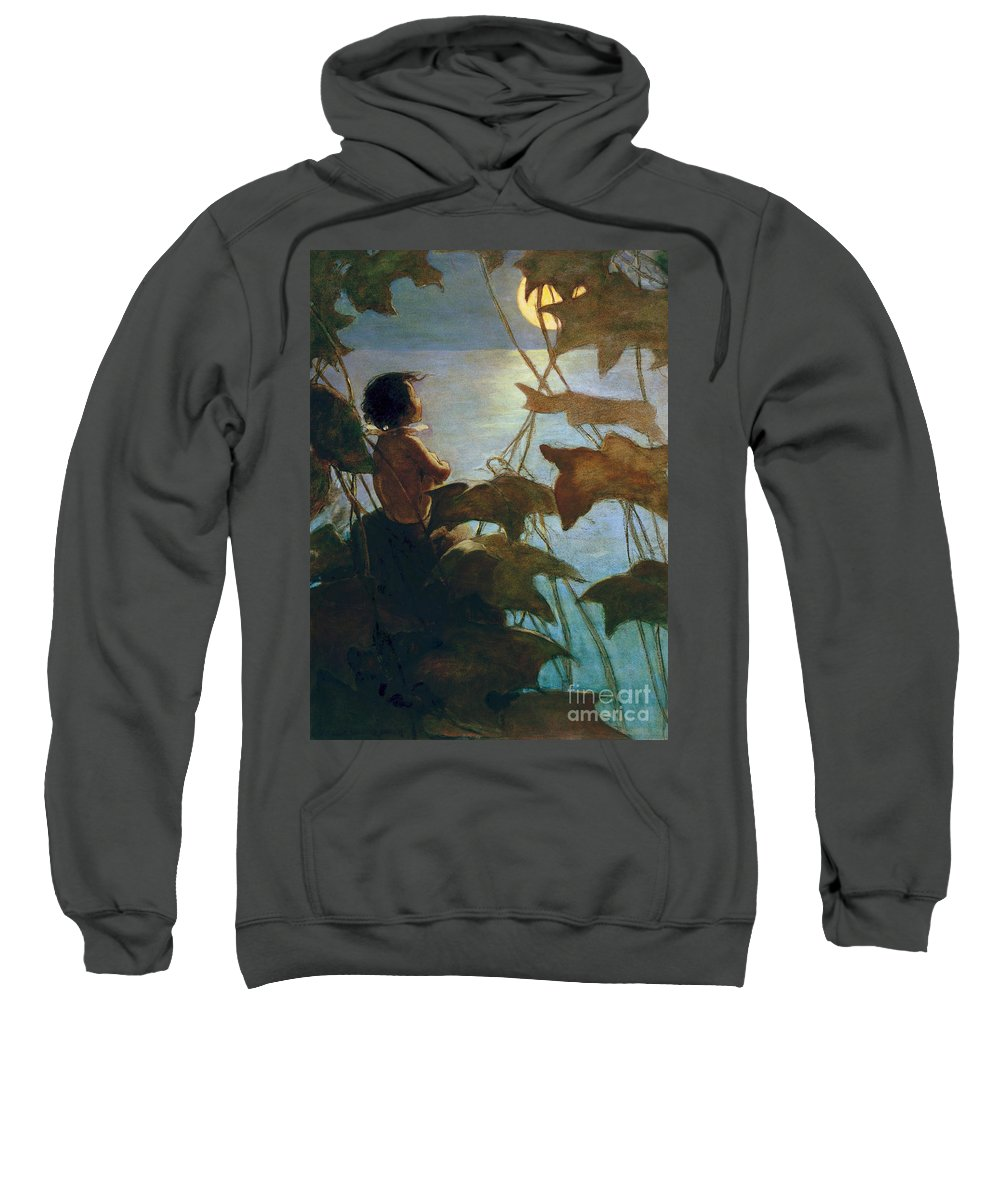 1916 Sweatshirt featuring the painting The Water Babies by Granger
