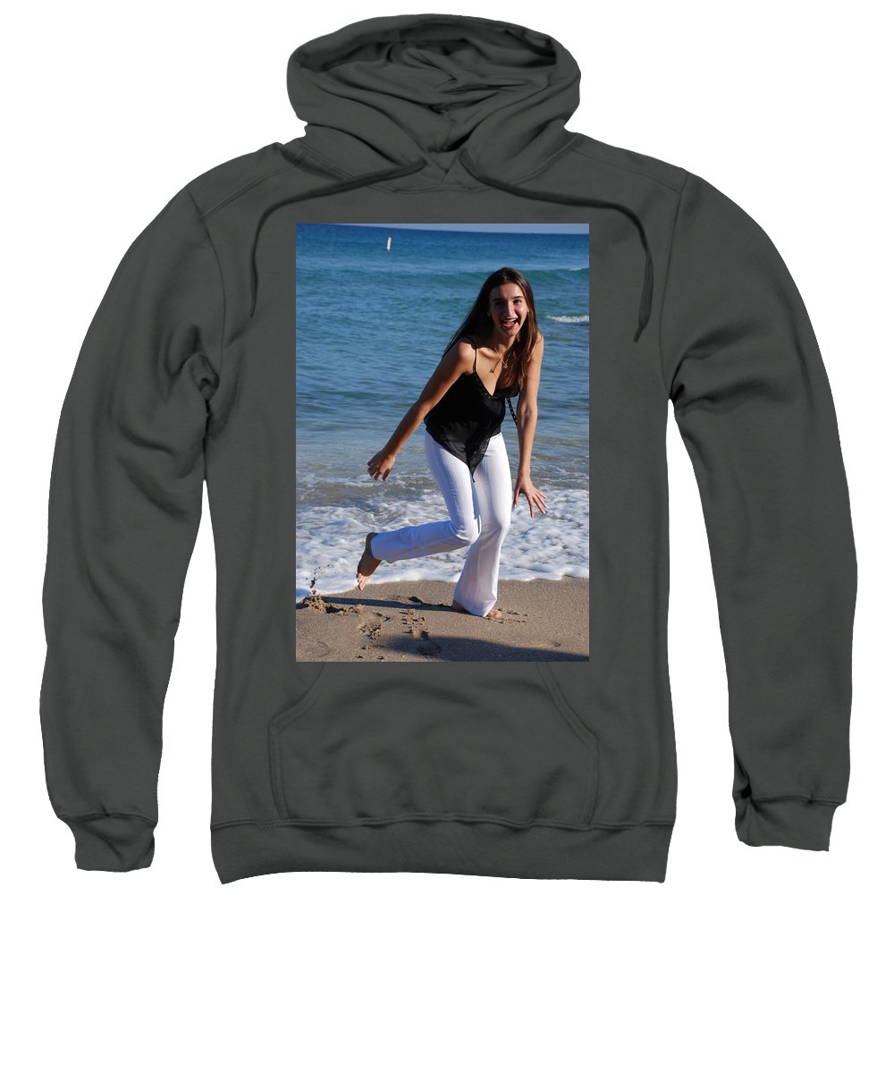 Sea Scape Sweatshirt featuring the photograph Gisele by Rob Hans