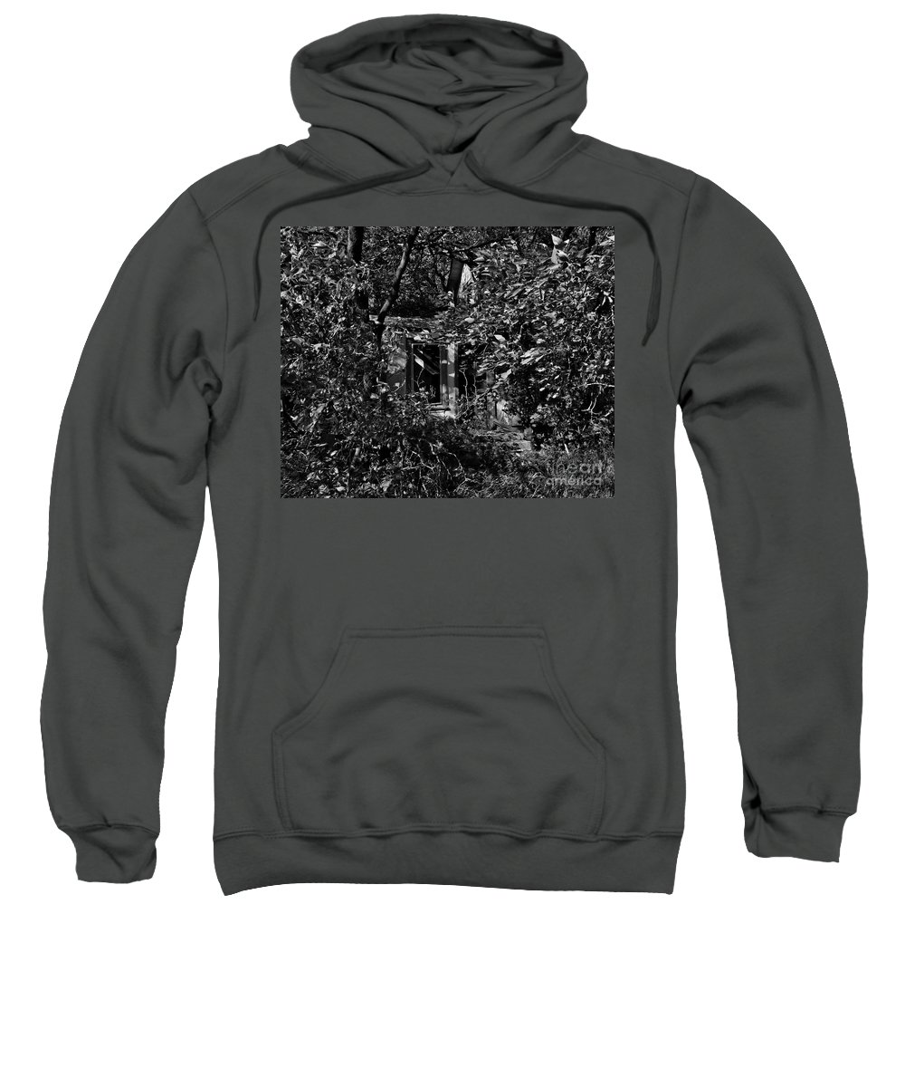 Farmhouse Sweatshirt featuring the photograph One Country Farmhouse by Curtis Tilleraas