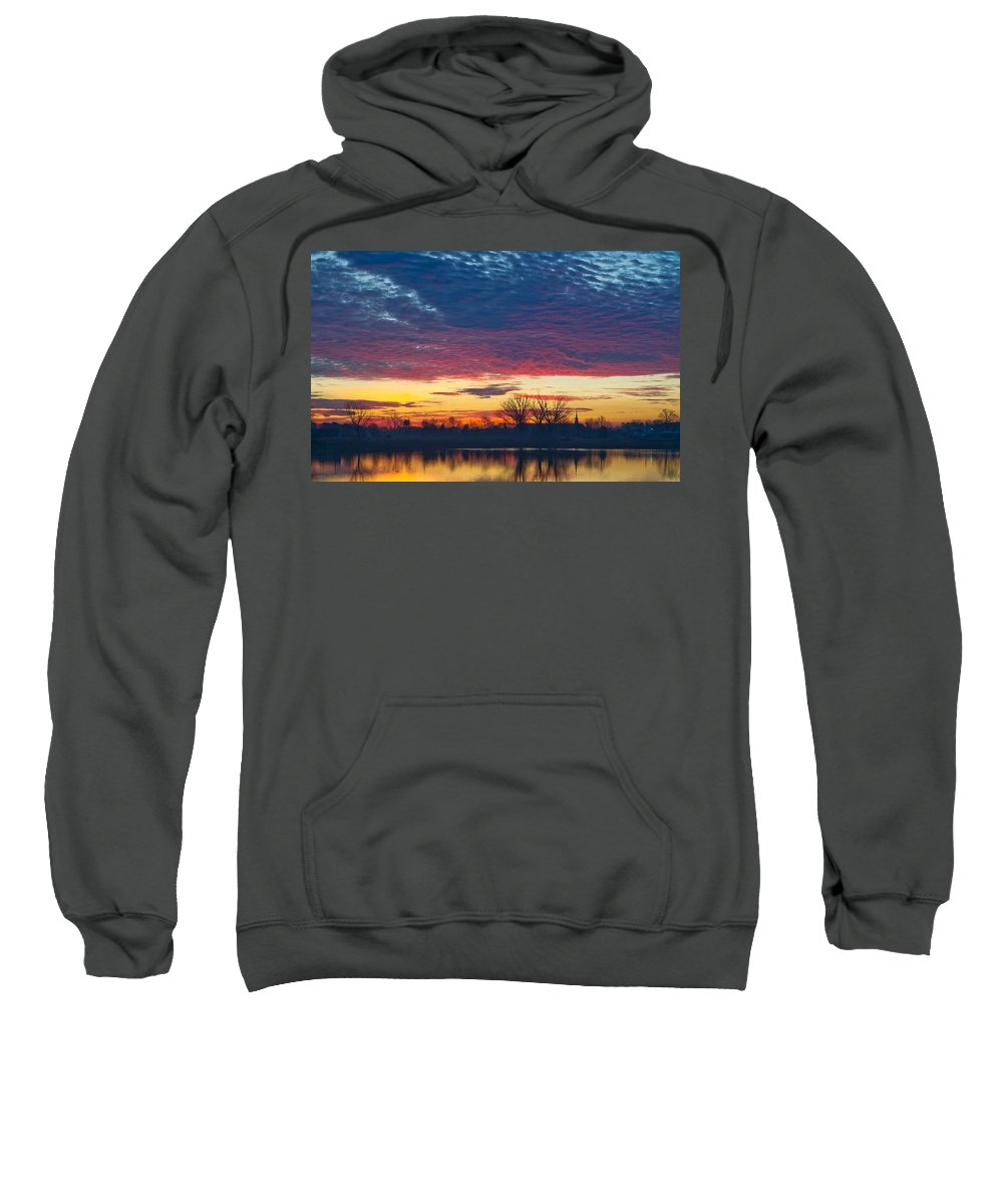 Sunset Sweatshirt featuring the digital art Sunset by Bert Mailer