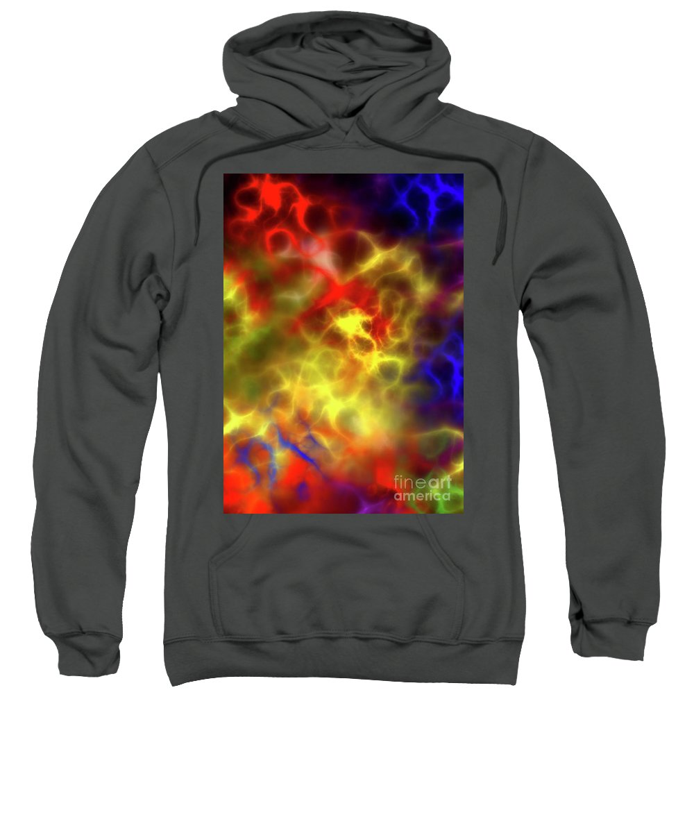 Concoction Sweatshirt featuring the digital art Abstract by Michal Boubin