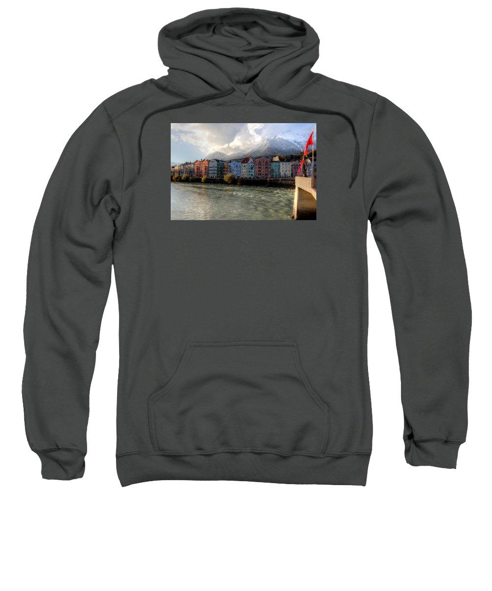 Innsbruck Austria Sweatshirt featuring the photograph Innsbruck Austria by Paul James Bannerman
