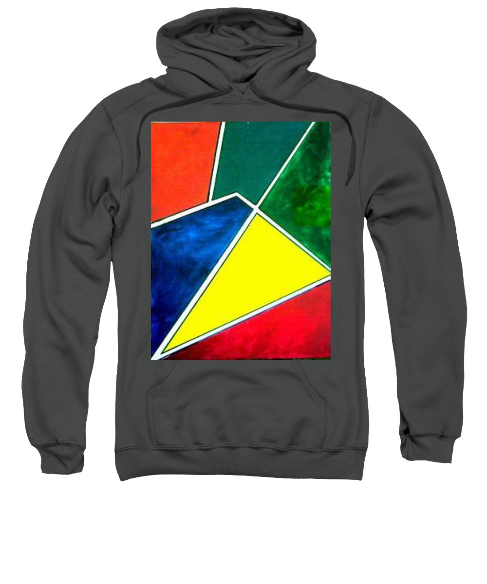 Primary And Sondary Colors Sweatshirt featuring the painting 99870 Colors by Andrew Johnson