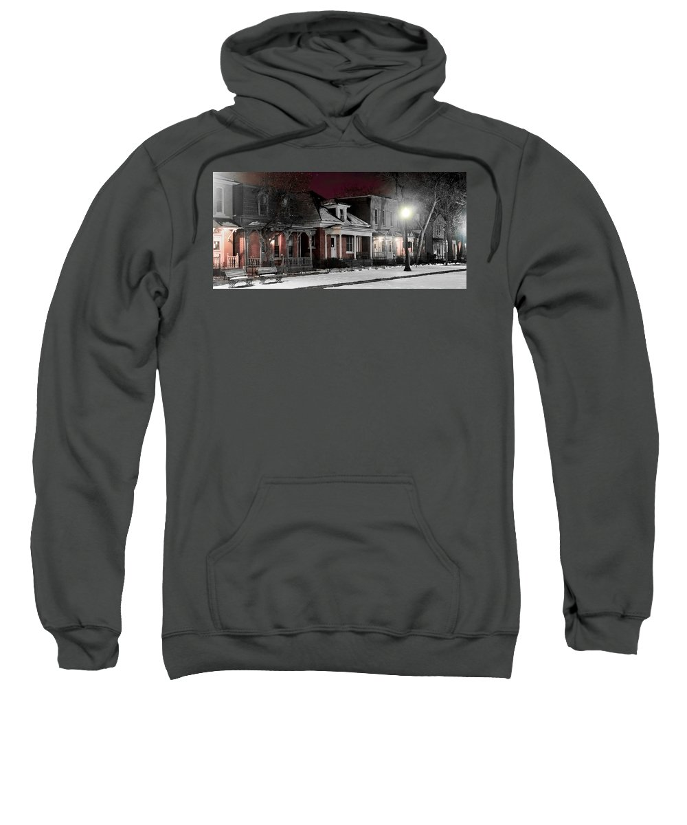 9th Sweatshirt featuring the photograph 9th St. Auraria by Jeffery Ball