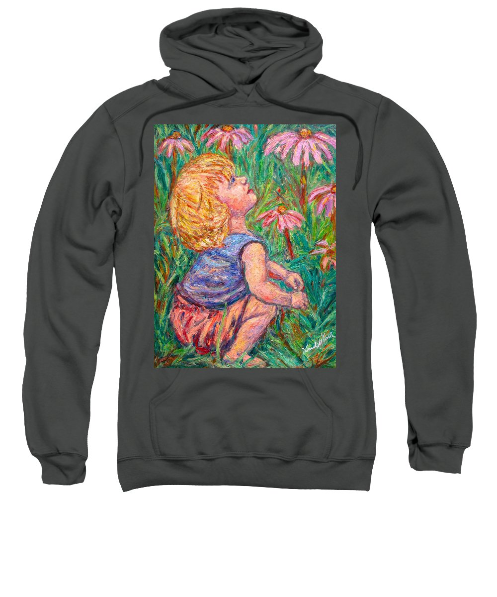 Child Sweatshirt featuring the painting A Beautiful Moment by Kendall Kessler