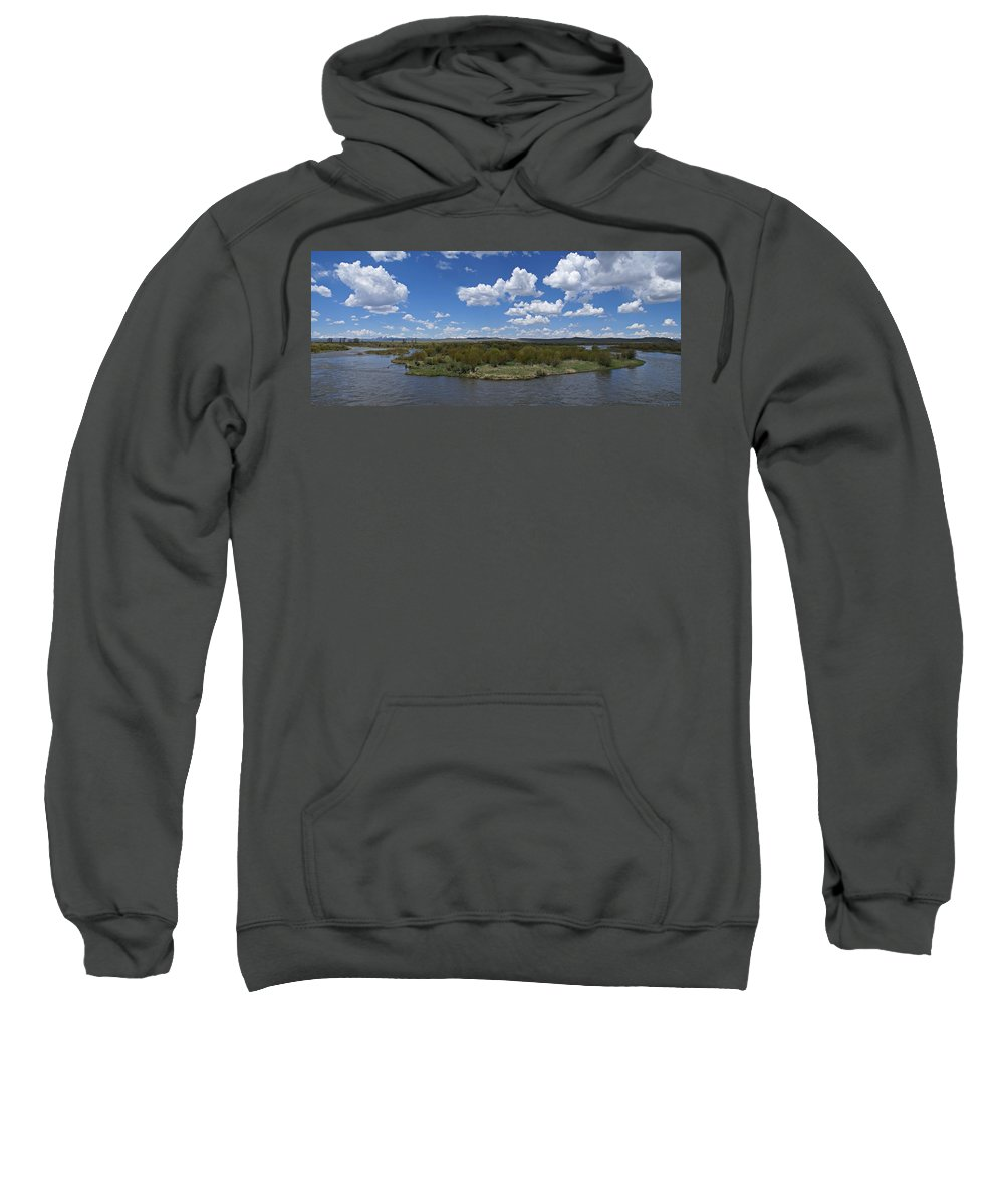 River Sweatshirt featuring the photograph A Bend In The River by Heather Coen