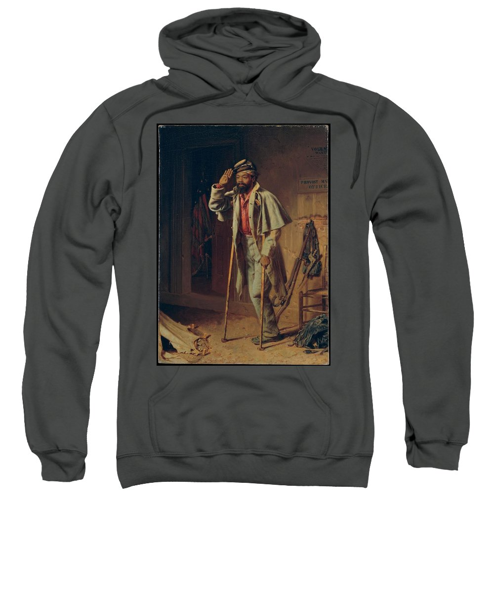 A Bit Of War History Sweatshirt featuring the painting A Bit Of War History by MotionAge Designs