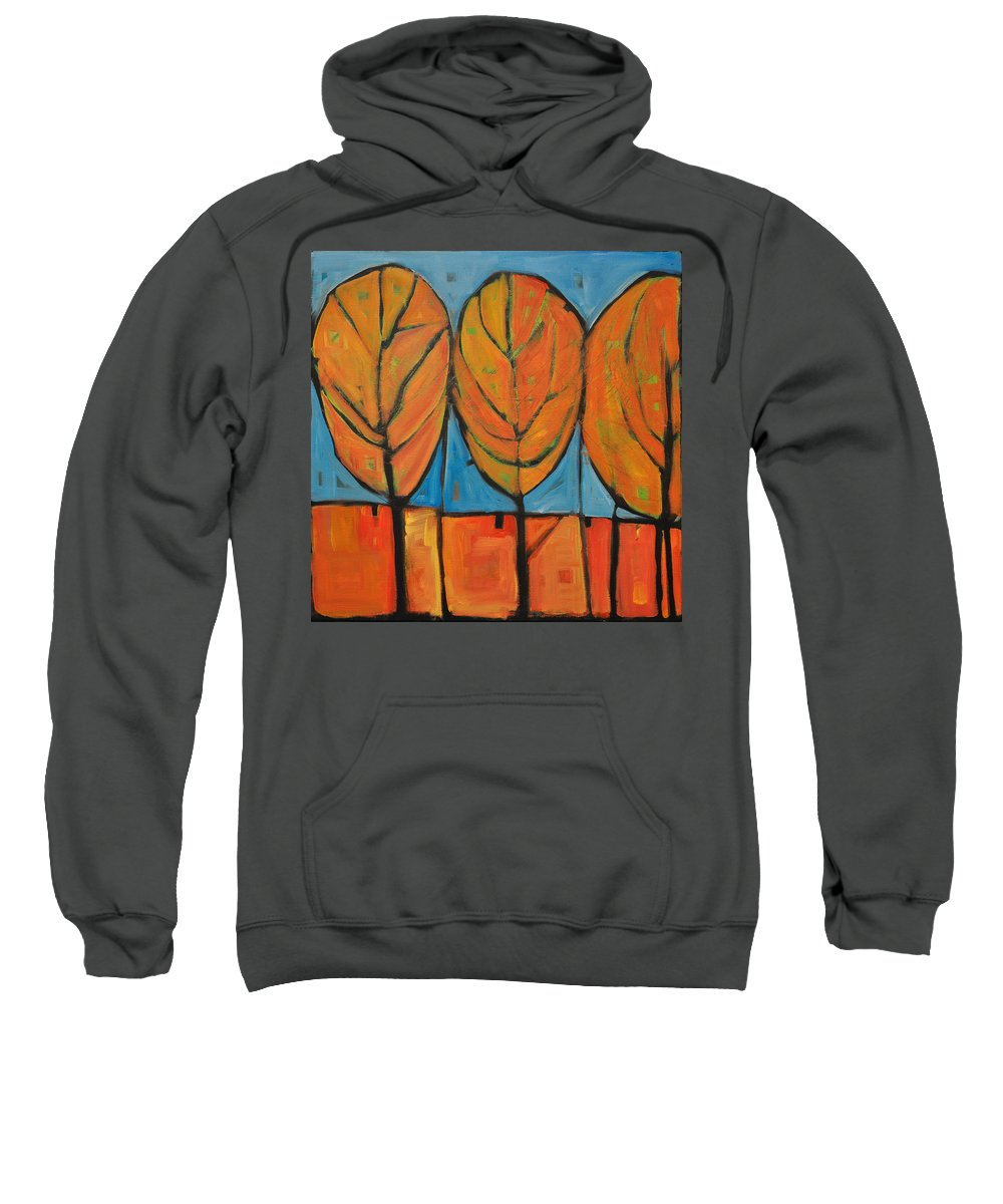 Fall Sweatshirt featuring the painting A Change Of Seasons by Tim Nyberg