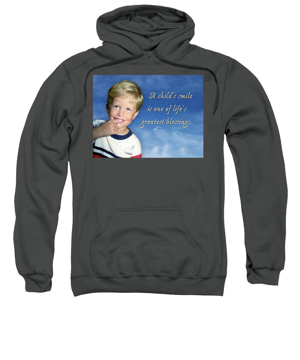 Boy Sweatshirt featuring the photograph A Child's Smile by Marie Hicks