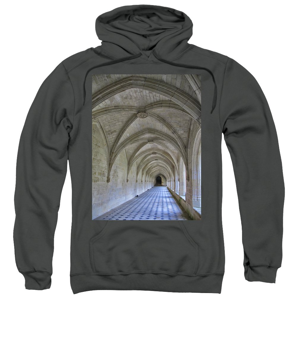 Cloister Sweatshirt featuring the photograph A Cloister Gallery by Dave Mills