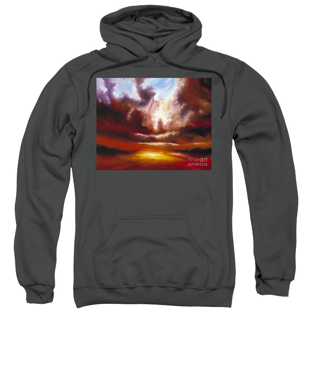 Tempest Sweatshirt featuring the painting A Cosmic Storm - Genesis V by James Christopher Hill