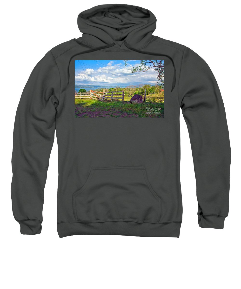 Landscape Sweatshirt featuring the photograph A Costa Rica View by Madeline Ellis