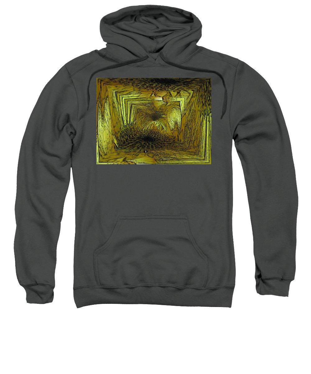 Abstract Sweatshirt featuring the digital art A Daisy Dilemma by Tim Allen