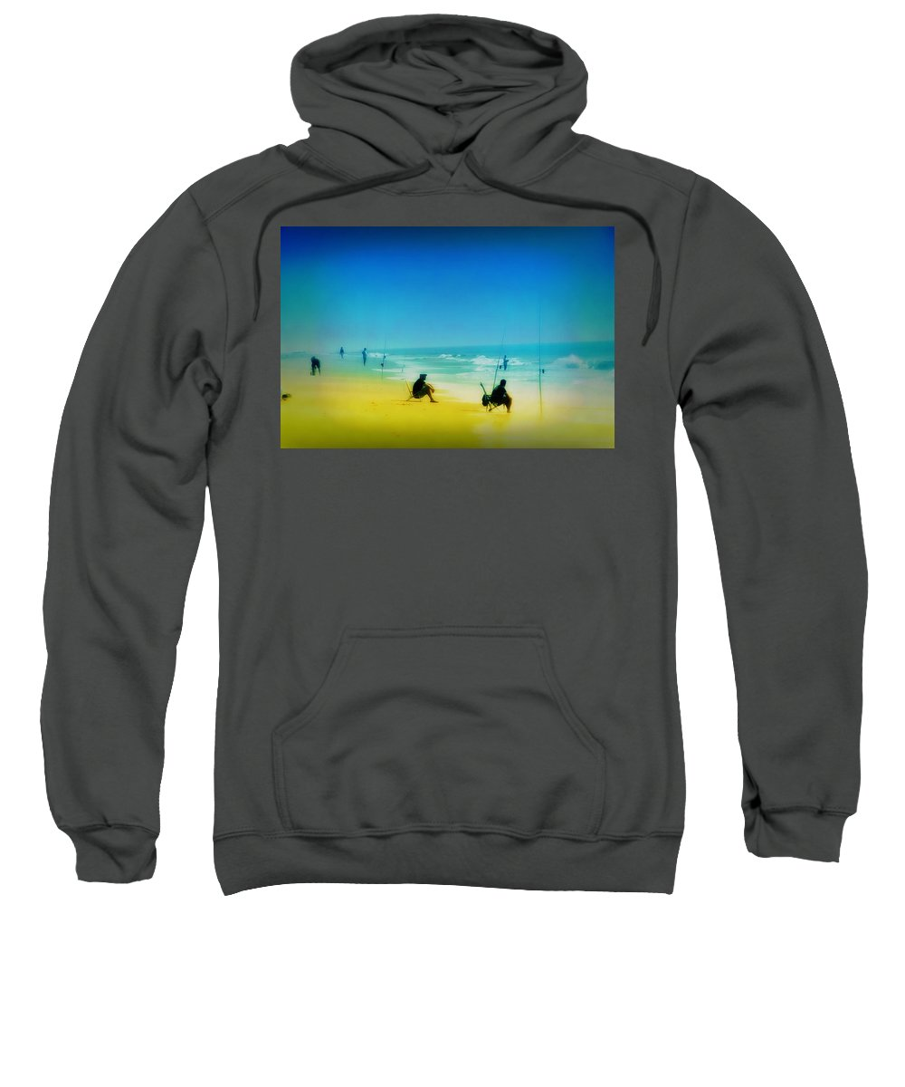 Beach Sweatshirt featuring the photograph A Day At The Beach by Bill Cannon