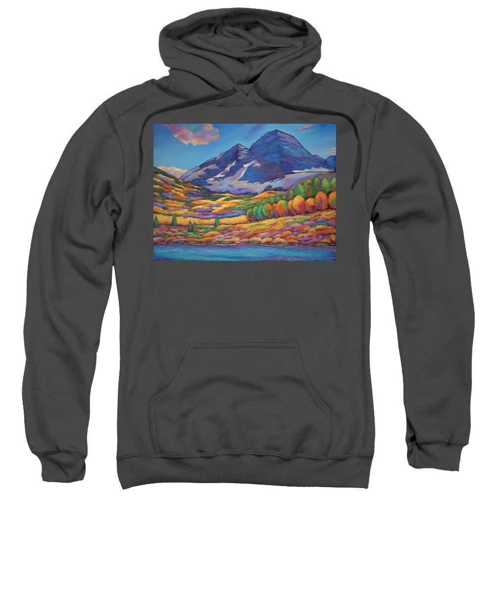 Aspen Tree Landscape Sweatshirt featuring the painting A Day In The Aspens by Johnathan Harris